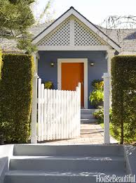 fabulous dark grey with orange trim house including what color to