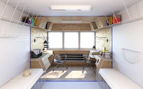 2 Person Desk For Home Office Home Office Designs Futuristic Dormitory Workspace Concept 35