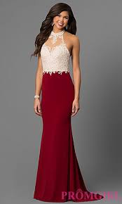 dresses for prom high neck halter prom dress with lace promgirl