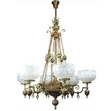 Gas Chandelier Mckenney Rod Hung Renaissance Gas Chandelier 6 Light Antique