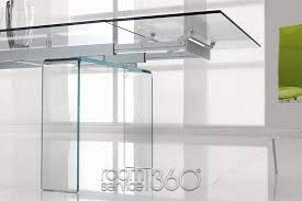 all glass dining table temple glass extension dining table by tonin casa room service 360