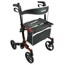 senior walkers with seat rollator walker by vive best rolling walker