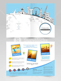 monuments for creative brochure template or flyer design with illustration of