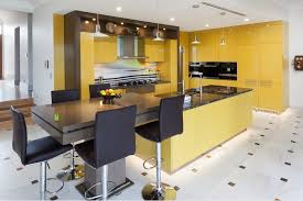 modern kitchen design yellow 2019 new design kitchen cabinets yellow color modern high gloss lacquer kitchen furnitures l1606053
