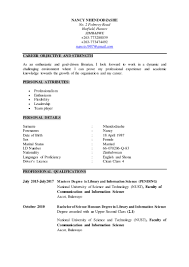 Electronic Thesis And Dissertation In Library And Information Science C V For Nancy Nhendodzashe Docx