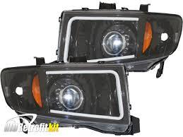 led strip lights headlights 06 14 honda ridgeline custom led strip bi xenon projector