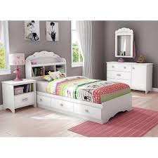 Bookcase Bed Frame Tiara Twin Size White Bookcase Bed Dcg Stores