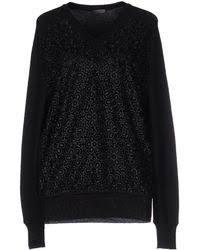 emanuel ungaro sweater in black lyst