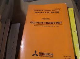 mitsubishi 6d14 14t 15 15t 16t diesel engine parts catalog