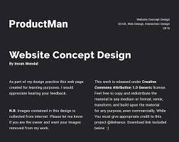 productman website homepage design concept on behance
