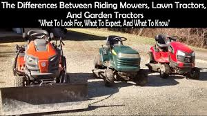 differences between riding mowers lawn tractors yard tractors and
