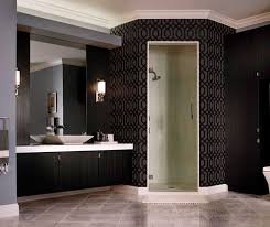Images Of Contemporary Bathrooms - contemporary bathroom vanity in thermofoil kitchen craft cabinetry