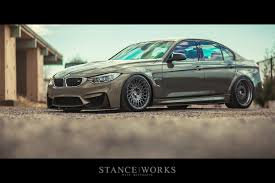 bmw m4 stanced the bavsound individual messing metallic nutmeg brown f80 m3