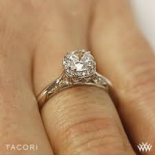 tacori dantela tacori 2620rdsm dantela crown solitaire engagement ring 2716