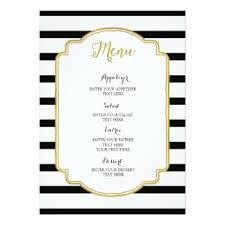 black and white wedding menus invitations u0026 announcements zazzle