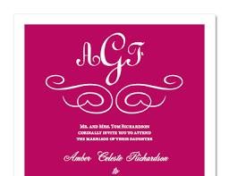 Monogram Wedding Invitations Unique Monogram Wedding Invitations For Elegant Invites