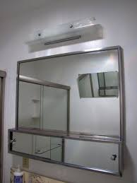 bathroom stainless framed cabinet mirror for bathroom cabinet