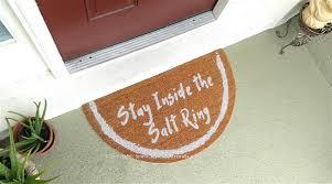 Welcome Doormats Stay Inside The Salt Ring Half Moon Custom Handpainted Fandom