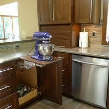 Kitchen Cabinet Appliance Garage Stainless Steel Panel Wooden - Kitchen cabinet varnish