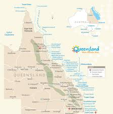 Map Of Queensland Map U0026 Distances Adventure Queensland