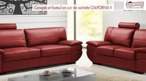 canapes et fauteuils canapés et fauteuil en cuir california ii