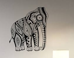 Elephant Decor For Home Predator Wall Decal Removable Vinyl Sticker Horror Alien Movie