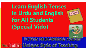 tenses with examples easy to understands for students of various