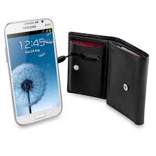 wallet carries your cash and charges your phone provides