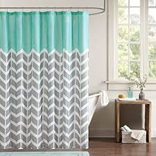 Gray And Teal Curtains Intelligent Design Id70 365 Shower Curtain 72x72