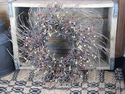 16 twig wreath with colonial berries primitive quilt shop