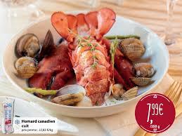 cuisiner homard surgelé carrefour market promotion homard canadien cuit produit maison