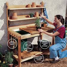 Wood Planter Bench Plans Free by 10 Potting Bench Ideas With Free Building Plans Tuesday Ten