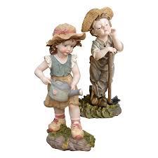 shop design toscano and frank farmer children garden statue