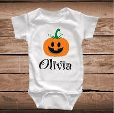 personalized thanksgiving or onesie for custom pumpkin