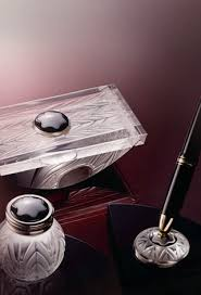 Mont Blanc Desk Accessories Montblanc Desk Accessories Set By Lalique Sybarites