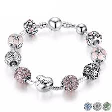 flower charm bracelet images Alluring love and flower charm bracelet stylish essence jpg
