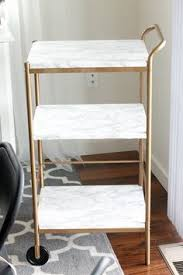 Ikea Kitchen Cart Makeover - diy faux marble bar cart makeover gold bar cart bar carts and