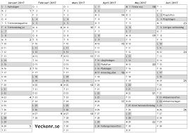 Kalender 2018 Helgdagar Kalender 2017 1 A Halvår