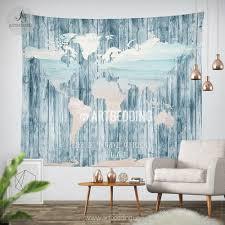 boho tapestry world map ocean wall tapestry boho soul decor