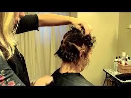 diy cutting a stacked haircut layered graduated bob hair tutorial stacked bob razor cut