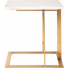 White Marble Desk by Nuevo Modern Furniture Hgtb275 Dell Side Table W White Marble Top