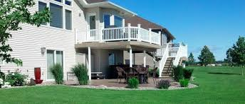 yard with patio and deck