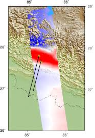Map Of Nepal And China by Radar Shows Kathmandu Area Uplifted 5 Feet By Gorkha Nepal