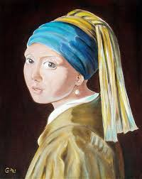 earring girl girl with a pearl earring johannes vermeer reproduction by