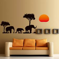diy tree cartoon elephant sun removable decal home decor wall