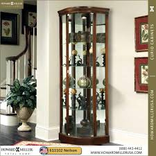 cherry corner curio cabinet cherry corner curio cabinet for howard miller display cabinets wood