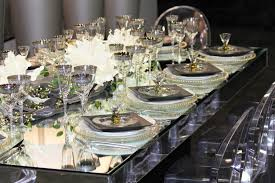 Mirrored Tables Mirror Glass Table 4 U0027 X 8 U0027 Town U0026 Country Event Rentals