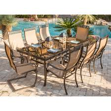 monaco 9 piece dining set with six dining chairs two c spring