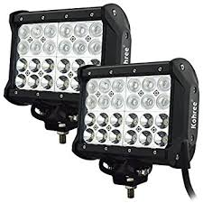 led security light bar amazon com kohree 2 pack 7 inch 72w off road led work light bar