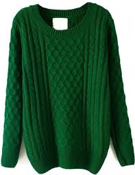green batwing sleeve cable knit sweater sw148080 35 07